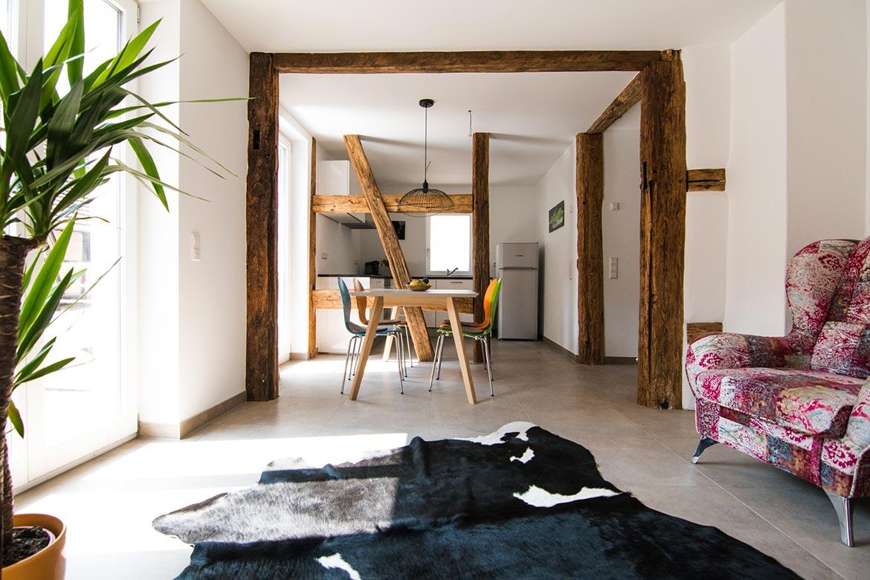 Wohnraum 1. OG Ansicht Esszimmer